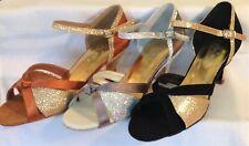 Ladies Silver or Tan Ballroom, Latin, Salsa, Jive Dance Shoes - UK Sizes 3 - 8