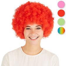 Perruque de clown afro bouclés rouge 80s carnaval halloween hippie pop-star