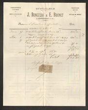 "AIGREFEUILLE (17) QUINCAILLERIE FERRONNERIE ""E. BRUNET & J. BENETEAU"" en 1896"