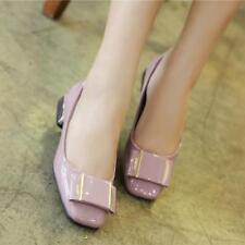 Ballerine mocassini scarpe donna basse rosa lucido  simil pelle comode 8402