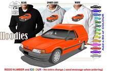 88-91 EA FALCON VAN HOODIE ILLUSTRATED CLASSIC RETRO MUSCLE SPORTS CAR