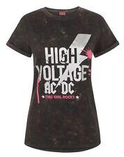 AC/DC High Voltage Acid Wash Women's T-Shirt
