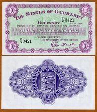 Guernsey, 10 shillings, 1966, P-42 (42c), UNC