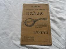 methode du banjo , landys , ed e gallet , s d