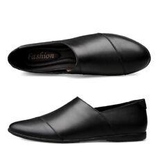 675ac2e6 Zapatos de Cuero para Hombre Puntera Puntiaguda sin Cordones Mocasines  Conducción bombas de trabajo empresariales informales