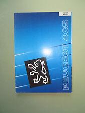 Peugeot 405 Break - Station Wagon 1990 - Prospekt - schöner Zustand -Italienisch