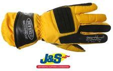 Buffalo Skoot Textile Waterproof Motorcycle Gloves Yellow Motorbike Thermal J&S