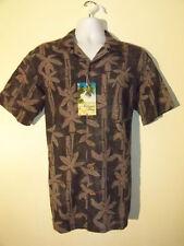 Milano Bay Gray Palm Tree Print Hawaiian Shirt NEW NWT