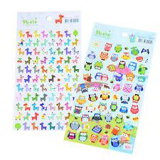 Cute Lovely 3D Bubble Stickers Kawaii Cartoon Animal Sticker Kids Toy Gift LAU