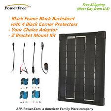 SuperBlack 10w 10 Watt Mono Solar Panel+$8 Adaptor+$10 Mount RV Boat 12v Battery