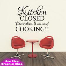 cuisine fermé Sticker de CITATION Art Mural - salle à manger maison décalcomanie