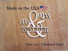 Mr & Mrs. Name Decor, Wedding Gift, Last Name Sign, Ampersand, Wood Name, LS1019