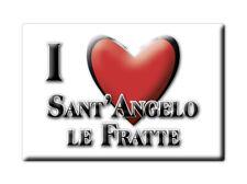 CALAMITA BASILICATA FRIDGE MAGNETE SOUVENIR I LOVE SANT'ANGELO LE FRATTE (PZ)