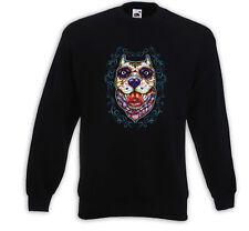 Mexican Pullover Bulldog Tattoo Sugar Skull Rockabilly Pitbull Hund