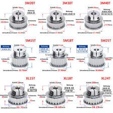 XL 3M 5M Zahnriemen Zahnrad 15-40T Riemenscheibe für 10mm 15mm Breite Zahnriemen