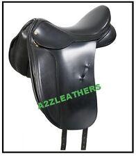 """""""New Design"""" Beautiful black Dressage Leather Saddle sizes 16"""""""