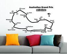 Grand Prix d'Australie circuit de voie Map F1 MOTO GP Wall Stickers Decals vinyl