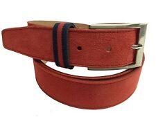 Cinturon de Ante Color  Rojo ( 100 % PIEL DE UBRIQUE)