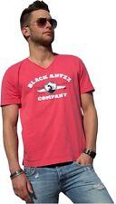 Cooles BLACK ANTZZ T-Shirt DIRTY BLOCK in Coral mit Schriftzug und Emblem, V-Nec