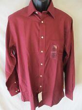 Chaps Cotton Blnd Red Reg Fit Long Slve Stretch Point Dress Shirt SR$50 NEW