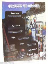 retro magazine advert 1992 HUGHES AND KETTNER , STAIRWAY TO HEAVEN
