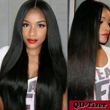 Italian Synthetic Lace Front Wig Long Yaki Straight Hair Wig Fashion Black Women