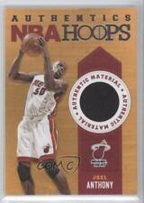 2013 NBA Hoops Authentics Memorabilia 38 Joel Anthony Miami Heat Basketball Card