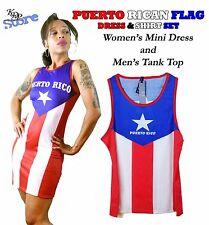 KenJeanne - Puerto Rican Flag Women's Dress & Men's Shirt Set