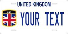 United Kingdom Flag License Plate Personalized Custom Auto Bike Motorcycle Tag