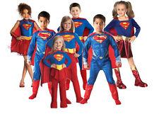 Niño Disfraz De Superman Supergirl Superhéroe Disfraz Niña Niño Comic 3-10 años