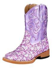 Roper Western Boots Girls Floral Glitter Purple 09-017-1901-1520 PU