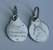 GERMAN SHEPHERD DOG TAG 25MM HAND OR MACHINE ENGRAVED TAG SAME DAY DISPATCH