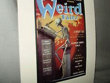 1941 Weird Tales  Pulp Horror Poster Exhibit