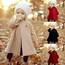 Kinder Baby Mädchen Langarm Trenchcoat Winter Warm Hoodie Jacke Mantel Parka