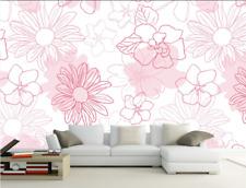3D Rose Jasmin 22  Photo Papier Peint en Autocollant Murale Plafond Chambre Art