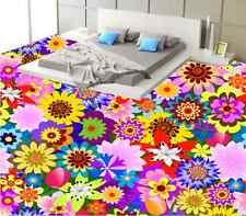 3D Motivo Floreale 06 Pavimento Foto Wallpaper Murales Muro Stampa Decalcomania