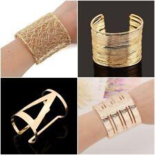 UK Metal Gold Wristband Silver Cuff Bangle Wires Open Bracelet Women Charm Jewel