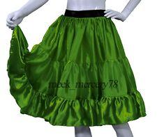 Green  Satin 3 Tiered Short skirt Belly Dance Skirt casual skirt Sexy Dress S62
