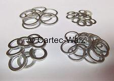 ALLUMINIO PIATTO GUARNIZIONE Anelli Di Tenuta Guarnizioni Alluminio Ø 5 - 30mm DIN 7603 VPE 100 ST