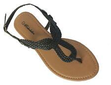 New Women's Roman Gladiator Flat Sandal T-Strap Sandals Clearance Sale--8016