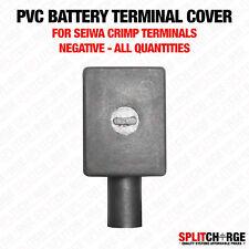 Di alta qualità PVC morsetto della batteria copre-SEIWA crimpare tipo negativo Nero