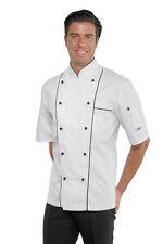 GIACCA CUOCO GRAND CHEF PROFILATA 100% COTONE MANICA CORTA ISACCO JACKET 요리사 재킷