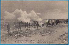 Camp de CHALONS - Ecole à feu. Batterie de 95 sur affut à col de cygne / 1907