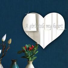 Personalised Mirror Keepsake-plaque-Valentines-15cm Love Heart Acrylic Mirror