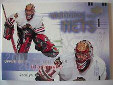 2001-02 UPPER DECK MASK COLLECTION # 107 JOCELYN THIBAULT, BLACKHAWKS !! BOX 40