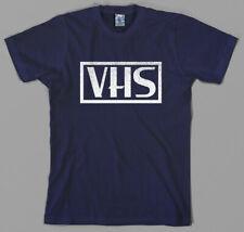 Retro VHS T Shirt - logo, vcr, video cassette, tape, vintage, recorder, 80s, 90s