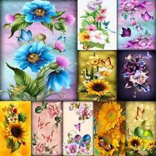 5D DIY Full Drill Diamond Painting Flower Butterfly Cross Stitch Mosaic Decor US