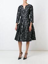 $2990 NEW Oscar de la Renta Flare Embellished Cocktail Evening Dress Black 4