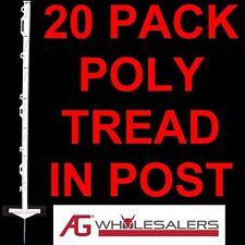 STRIP GRAZE POLY TREAD IN POSTS X 20 ELECTRIC FENCE