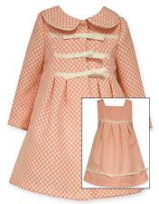 Bonnie Jean Toddler Girls Coral Polka Dot Easter Dress & Coat Set 2T 3T 4T New